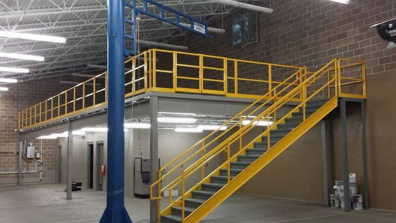 mezzanine over office